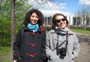 Bella und Beatriz, Architekturstudentinnen aus Spanien