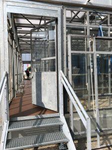 Der Blick in den rechten Seitengang des Bauhaus reuse