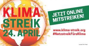 Flyer für eine Online Klimademo